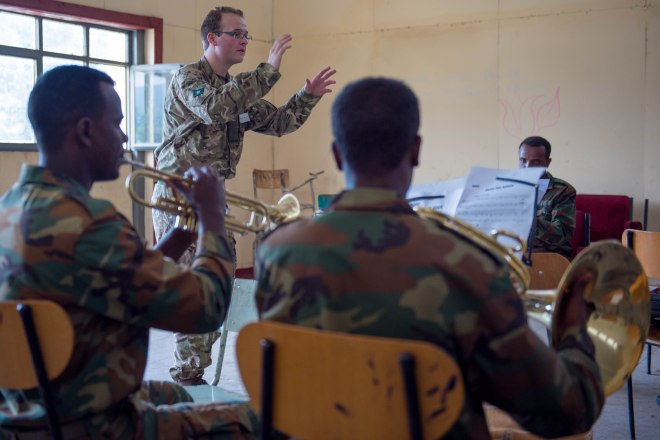 Musician Cudworth conducting