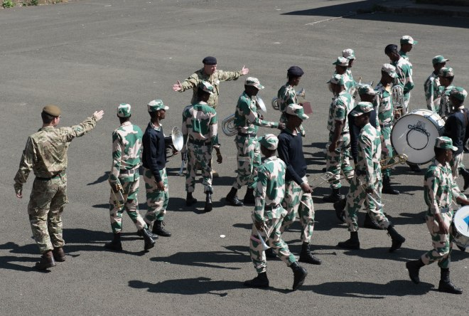Key hand signals for the marching lessons with the Ethio-Somali Police
