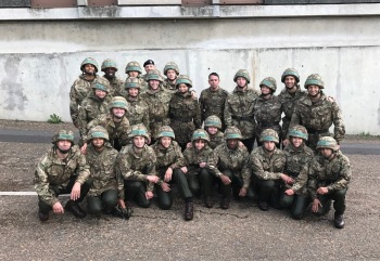 47 Platoon after a dip in the lake, post assault course.